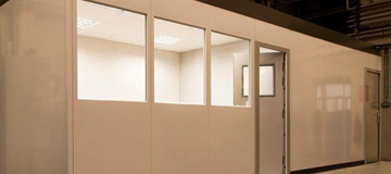 Stormor Systems partitioning system in industrial environment